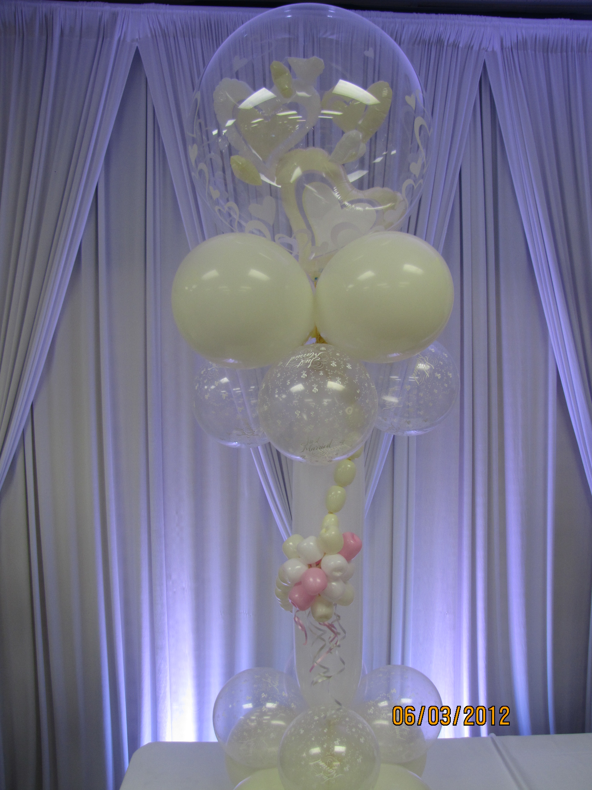 Wedding balloon arch amytheballoonlady for Balloon decoration ideas for weddings