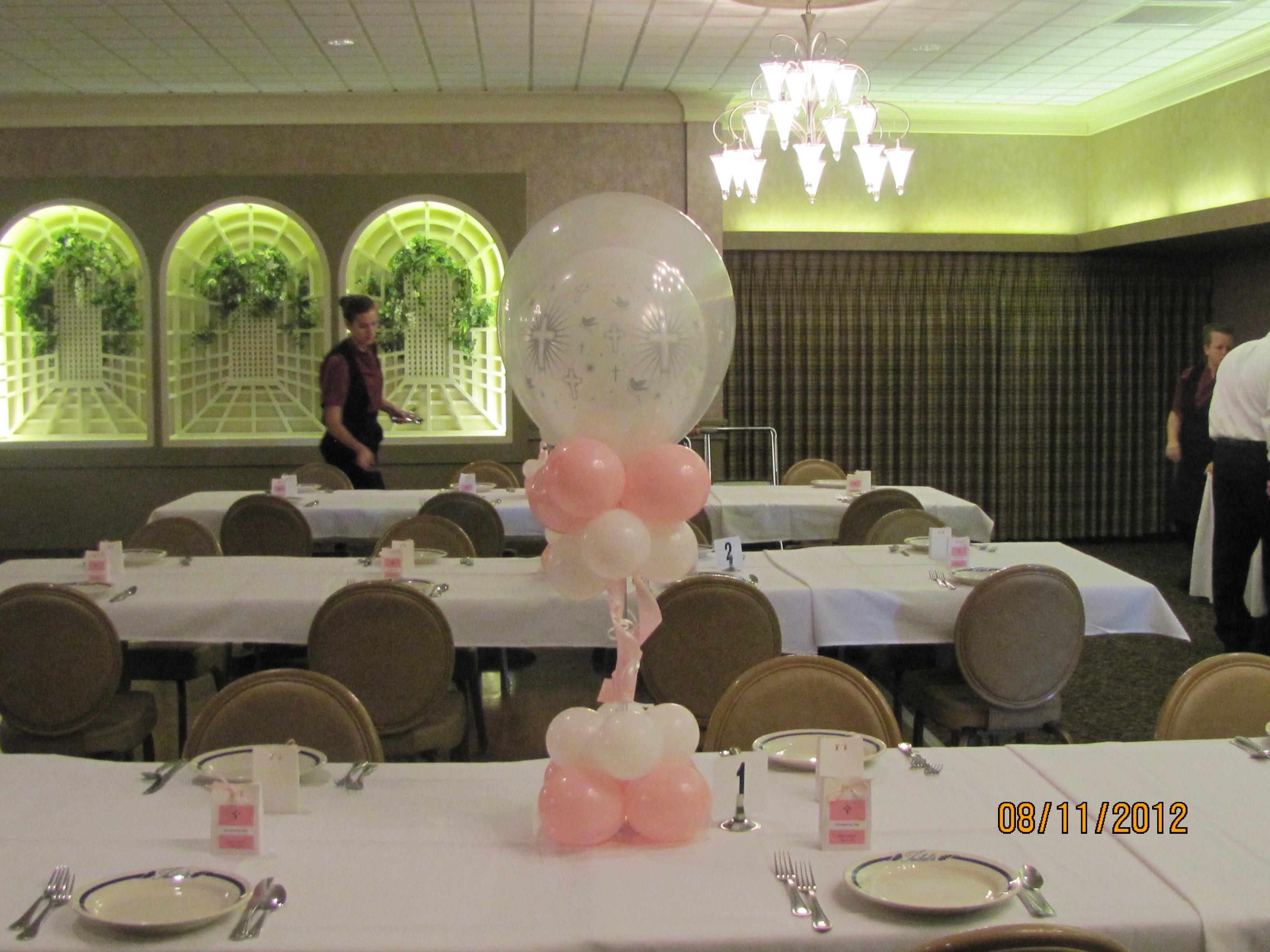 First munion Balloon Decor