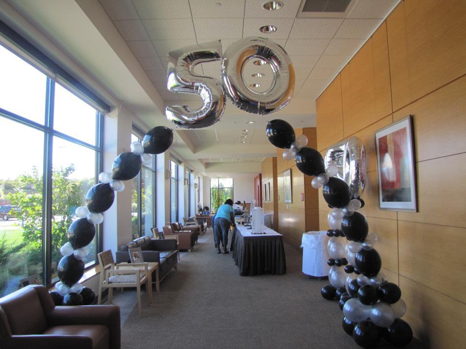 50th Birthday Balloons Amytheballoonlady