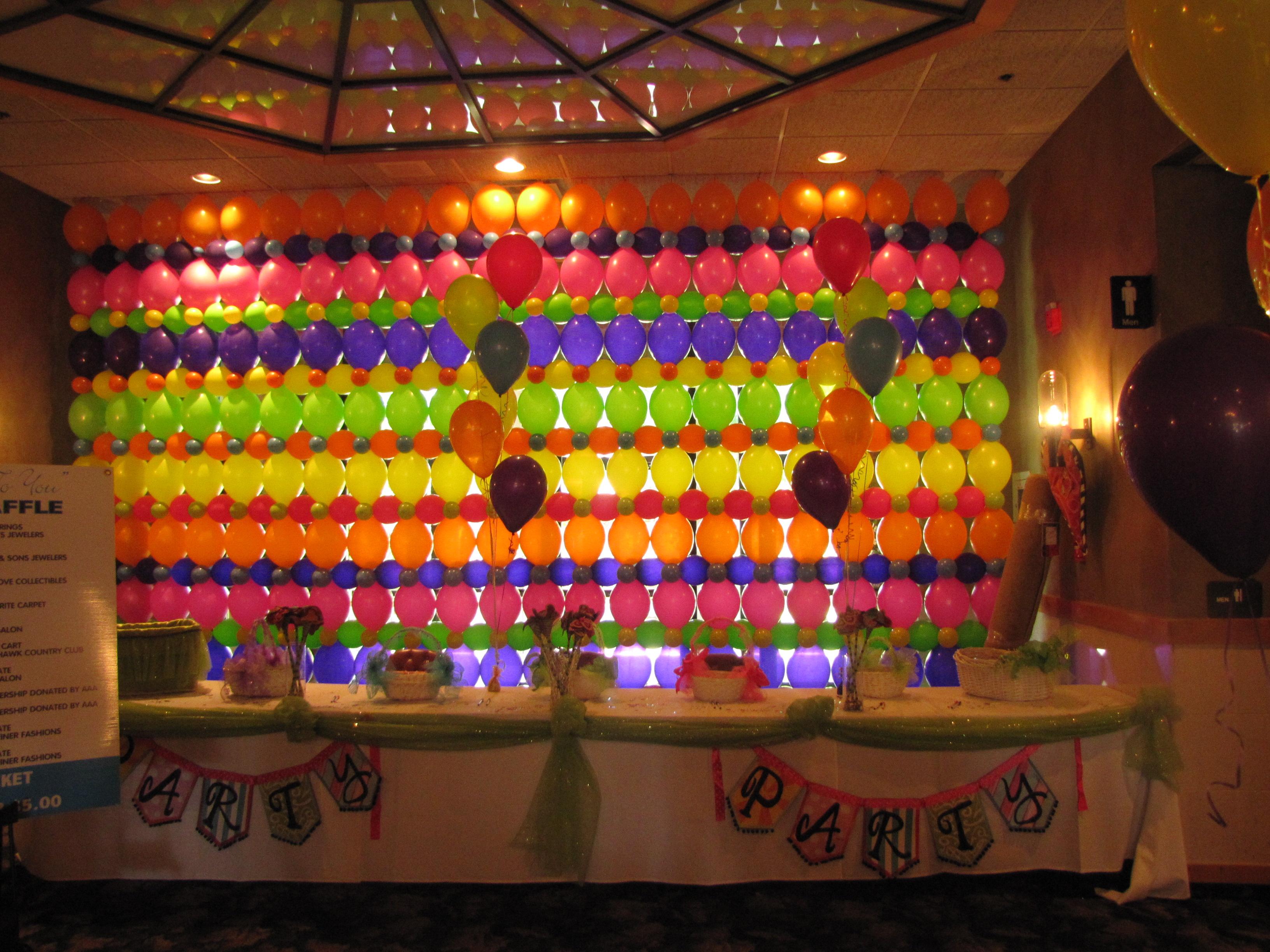 Celebrate Party Theme Balloon Decor | amytheballoonlady