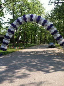 Balloon Arch for Lupus Association