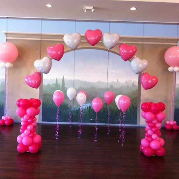 Wedding balloon arch amytheballoonlady for Arch balloon decoration