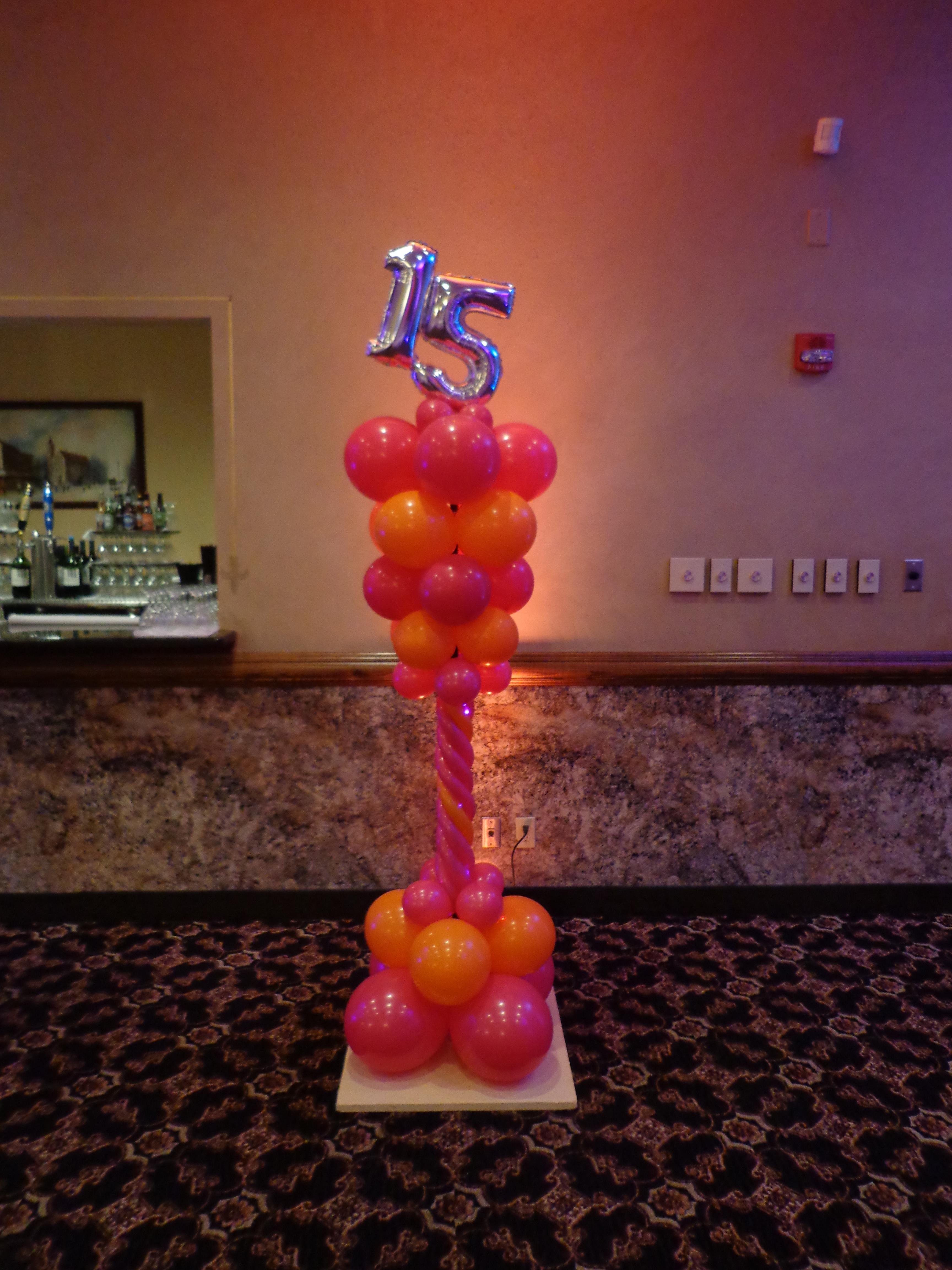 Quinceanera balloon decor amytheballoonlady