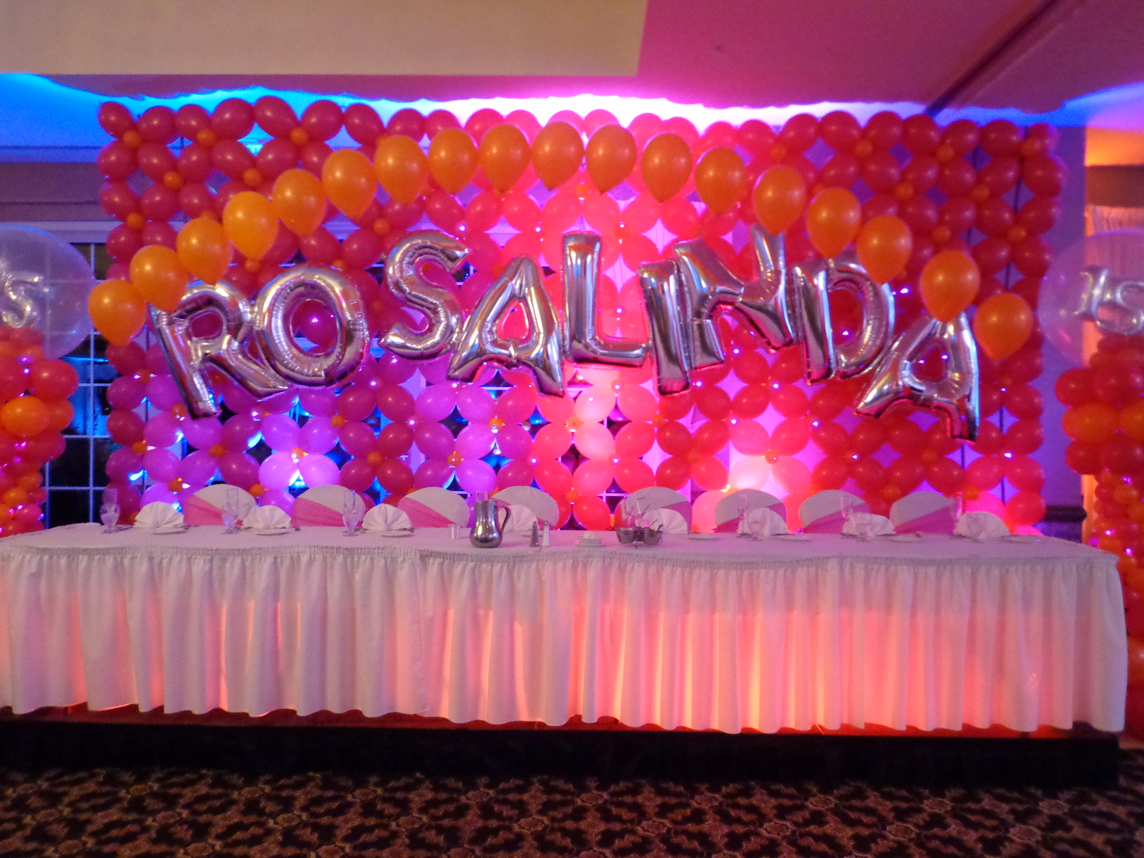quinceanera balloon decor amytheballoonlady